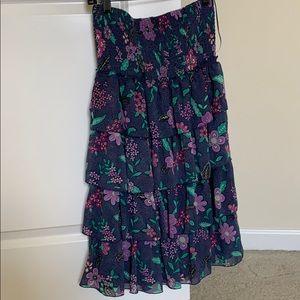 American Eagle Floral Ruffle Dress